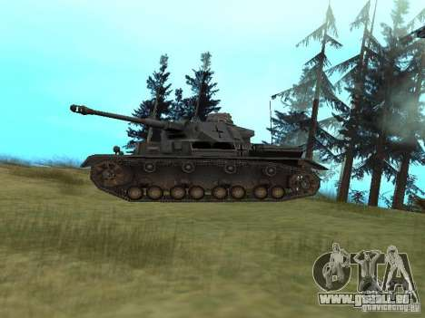 Pzkpfw IV pour GTA San Andreas sur la vue arrière gauche