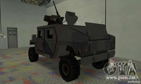 Humvee of Mexican Army pour GTA San Andreas vue de droite