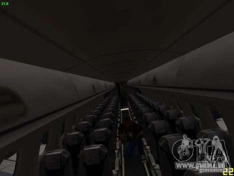 Embraer ERJ 190 USAirways für GTA San Andreas Innenansicht