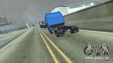 Man F2000 pour GTA San Andreas sur la vue arrière gauche