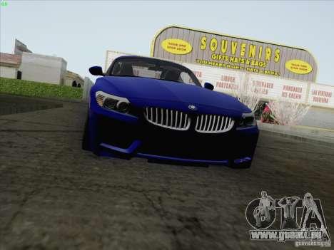 BMW Z4 2011 pour GTA San Andreas sur la vue arrière gauche