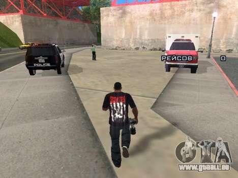 Journaliste pour GTA San Andreas deuxième écran