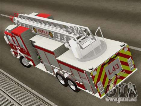 Pierce Arrow LAFD Ladder 43 für GTA San Andreas Innenansicht