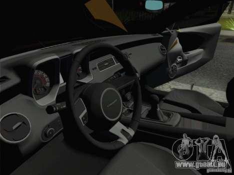 Chevrolet Camaro SS 2012 pour GTA San Andreas vue arrière