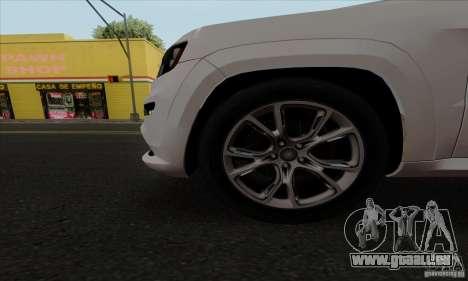 Jeep Grand Cherokee SRT-8 2013 pour GTA San Andreas vue arrière