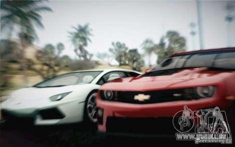 Chevrolet Camaro ZL1 v2.0 pour GTA San Andreas vue arrière