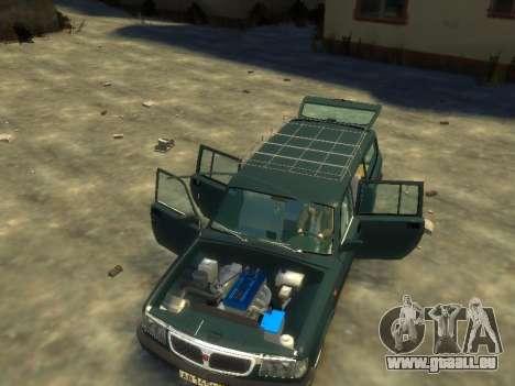 GAZ 310221 Wagon pour GTA 4 Vue arrière