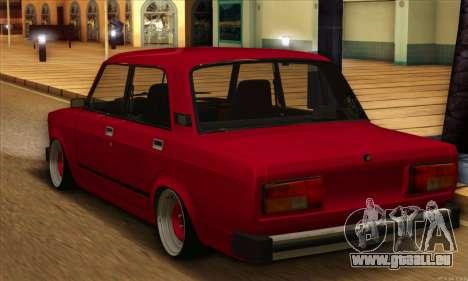 VAZ 2105 Cherry Pie pour GTA San Andreas sur la vue arrière gauche