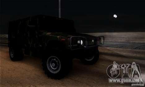 Hummer H1 für GTA San Andreas obere Ansicht