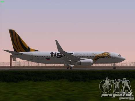 Boeing 737-800 Tiger Airways für GTA San Andreas Motor