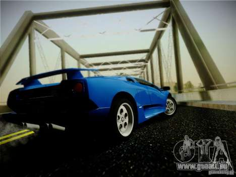 Lamborghini Diablo VT 1994 für GTA San Andreas zurück linke Ansicht