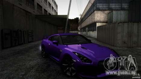Nissan GT-R35 v1 pour GTA San Andreas vue de droite