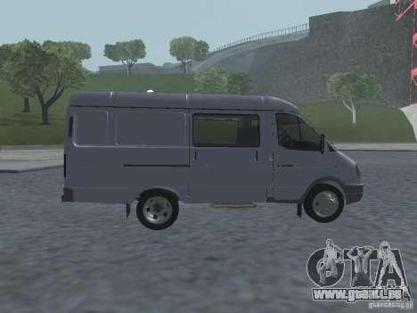 Gazelle 2705 Gruzopasažirskaâ pour GTA San Andreas vue arrière