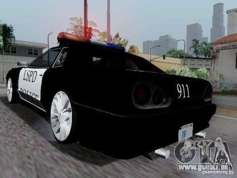 Elegy Police LS pour GTA San Andreas vue de droite