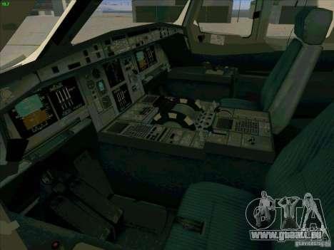 Airbus A380-800 für GTA San Andreas Unteransicht