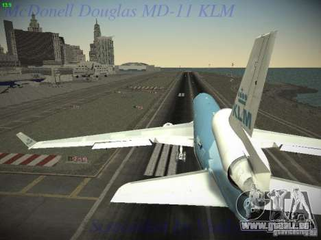 McDonnell Douglas MD-11 KLM Royal Dutch Airlines pour GTA San Andreas vue de droite