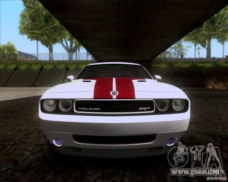 Dodge Challenger SRT8 2009 pour GTA San Andreas vue intérieure