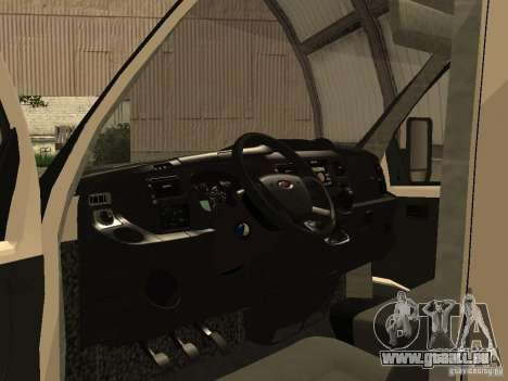 GAZ 2752 Sobol Business für GTA San Andreas Rückansicht