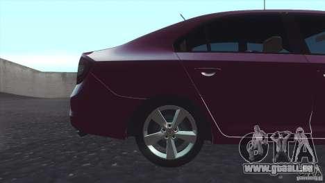 Skoda Rapid 1.6 C.R TDi 2013 V1 pour GTA San Andreas sur la vue arrière gauche