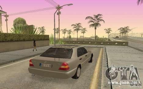 Mercedes Benz C220 für GTA San Andreas zurück linke Ansicht