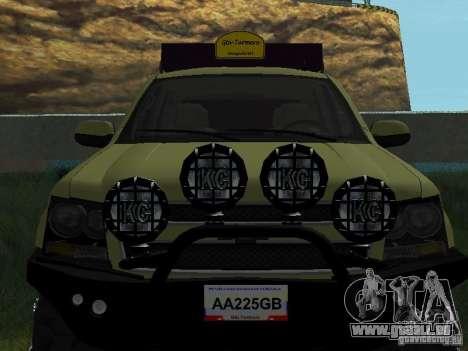 Chevrolet Tahoe Off Road für GTA San Andreas Rückansicht