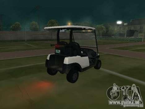 Caddy de GTA TBoGT pour GTA San Andreas sur la vue arrière gauche