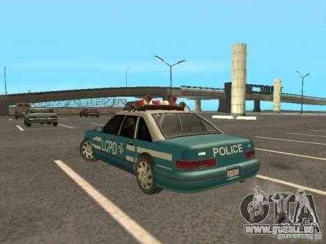 HD Police from GTA 3 pour GTA San Andreas sur la vue arrière gauche