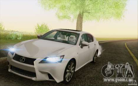 Lexus GS 350 F Sport Series IV pour GTA San Andreas vue de côté