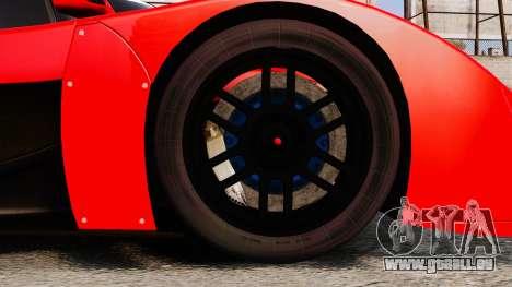Toyota GT-One TS020 pour GTA 4 Vue arrière