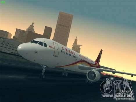 Airbus A320-214 Hong Kong Airlines für GTA San Andreas Unteransicht