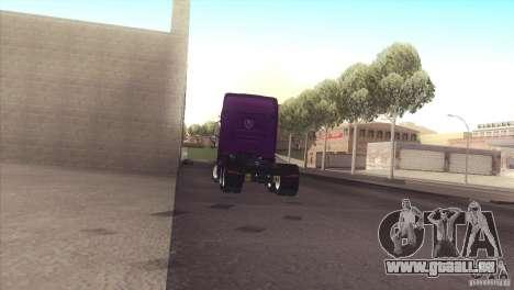Scania Euro 5 R700 V8 pour GTA San Andreas sur la vue arrière gauche
