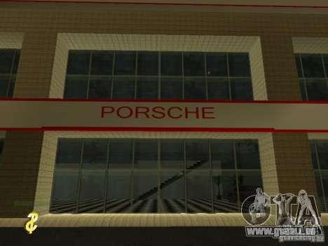 Salon de l'automobile Porsche pour GTA San Andreas troisième écran