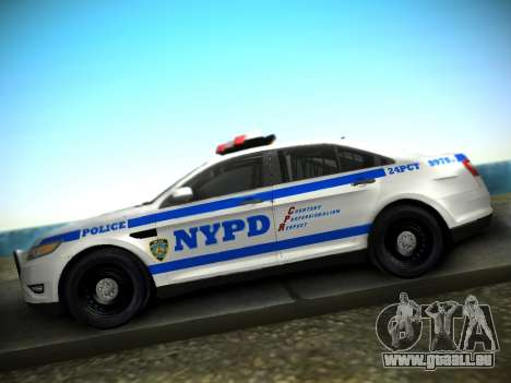 Ford Taurus NYPD 2011 pour GTA San Andreas vue de droite