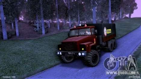 École de conduite de camion pour GTA San Andreas vue arrière
