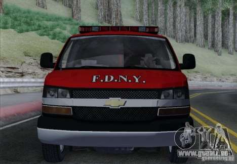 Chevrolet Express Special Operations Command für GTA San Andreas obere Ansicht