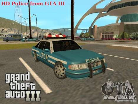 HD Police from GTA 3 für GTA San Andreas