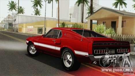 Shelby GT500 428 Cobra Jet 1969 pour GTA San Andreas vue intérieure