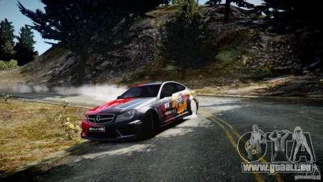 Mercedes Benz C63 AMG SAIBON Paint Job pour GTA 4 est une gauche