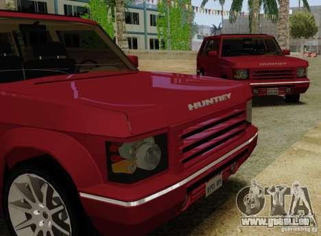 Huntley Freelander pour GTA San Andreas sur la vue arrière gauche