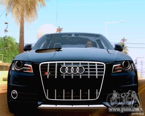 Audi S4 2010 für GTA San Andreas Innenansicht