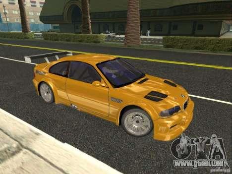 BMW M3 GTR de NFS Most Wanted pour GTA San Andreas laissé vue