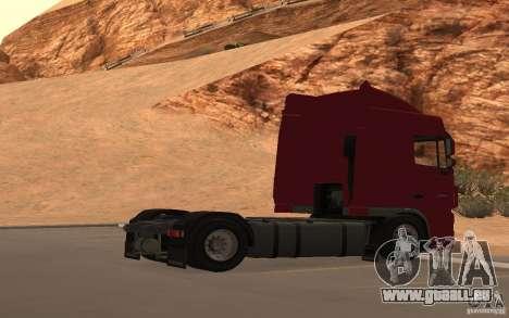 DAF FX 105 für GTA San Andreas obere Ansicht