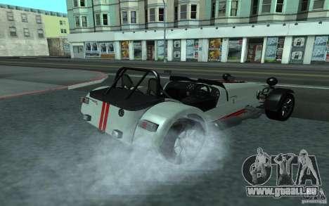 Caterham R500 pour GTA San Andreas sur la vue arrière gauche