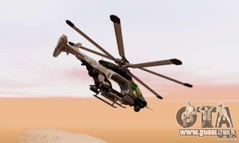 AH-2 Сrysis 50 C.E.L.L. hélicoptère pour GTA San Andreas sur la vue arrière gauche