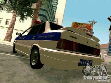 VAZ-2115-Polizei für GTA San Andreas rechten Ansicht
