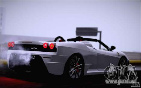 Ferrari F430 Scuderia Spider 16M pour GTA San Andreas laissé vue