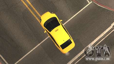 Fiat Linea-Taxi für GTA San Andreas Rückansicht