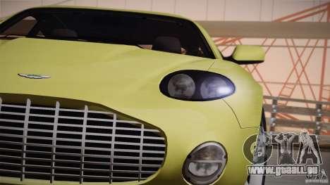 Aston Martin DB7 Zagato 2003 pour GTA San Andreas vue de dessus