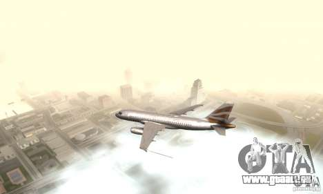 Airbus A319 British Airways Olympic Dove pour GTA San Andreas laissé vue