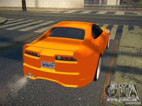 Toyota Supra VeilSide Fortune 2003 pour GTA San Andreas sur la vue arrière gauche
